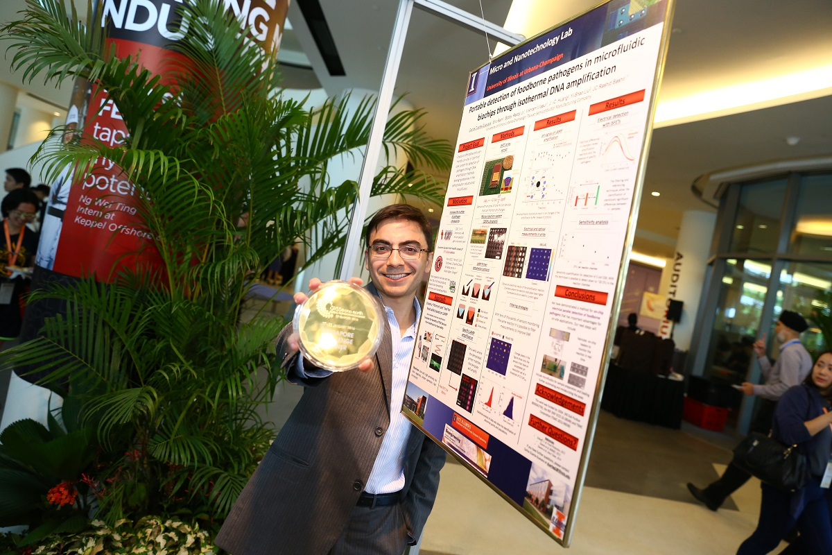 Carlos Duarte-Guevara, a graduate student in Electrical and Computer Engineering, received the Singapore Challenge 2016 Prize.