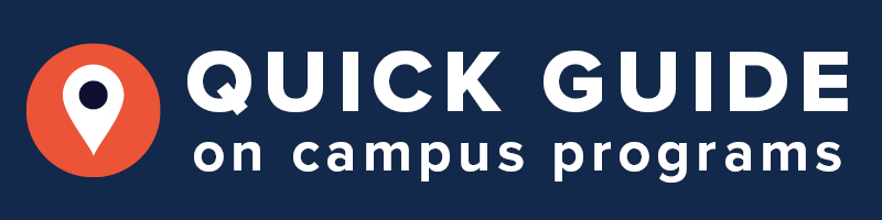 quick guide for on campus programs