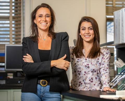 New research led by professor of food science and human nutrition M. Yanina Pepino, left, suggests that just tasting the artificial sweetener sucralose may affect an individual's response on glucose tolerance tests. Graduate student Clara Salame was a co-author of the study.