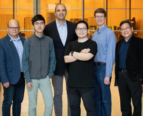 Six researchers who study the vison of the mantis shrimp.