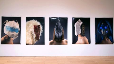 Artwork by Metals MFA graduate Connor Dyer at Krannert Art Museum.