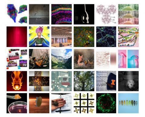 30 square semi-finalist photos in a grid.