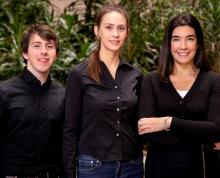 New research co-written by U. of I. psychology professor Dolores Albarracin, right, found that four factors lead to the retransmission of public health tweets from expert accounts on Twitter. Albarracin's co-authors include U. of I. graduate students Benjamin X. White, left, and Sophie Lohmann.