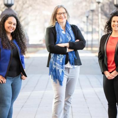 Illinois researchers Aimy Wissa, Marianne Alleyne and Ophelia Bolmin.