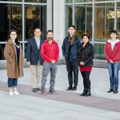 Composite photo of the CRISPR-Cas9 Illinois research team.
