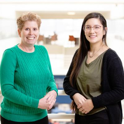 Comparative biosciences professor Jodi A. Flaws, left, and graduate student Katie (Catheryne) Chiang co-wrote the study.