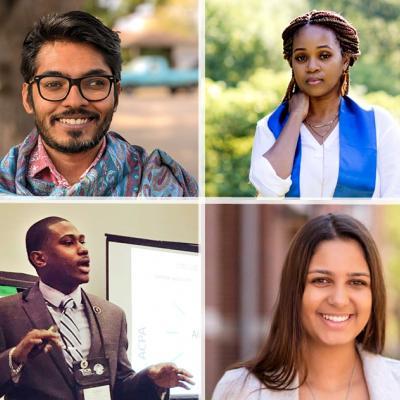 Headshots of the four Graduate Student Leadership Award Winners